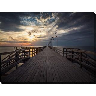 """Sunrise at the beach, Machalinki Poland"" Giclee Print Canvas Wall Art"