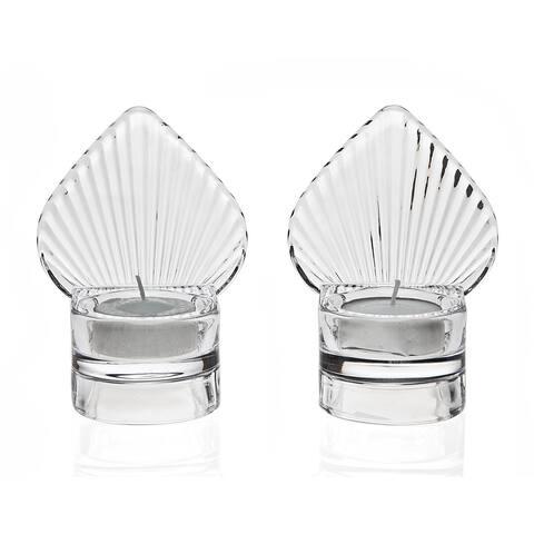 Godinger Clear Crystal Shell Votive Holder (Set of 2)