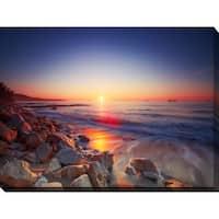"""Beautiful sunrise over the horizon"" Giclee Print Canvas Wall Art"