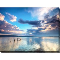 """""""Sunset Over the lake"""" Giclee Print Canvas Wall Art"""