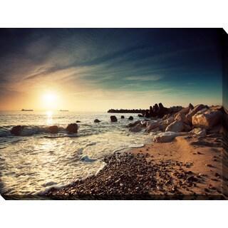 """Sunrise Over the Horizon"" Giclee Print Canvas Wall Art"