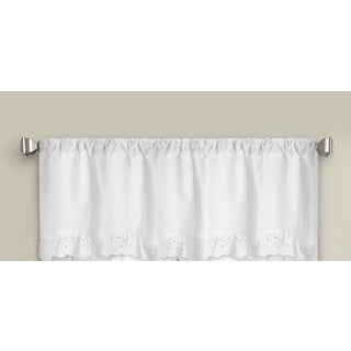 White Microfiber Eyelet Window Valance