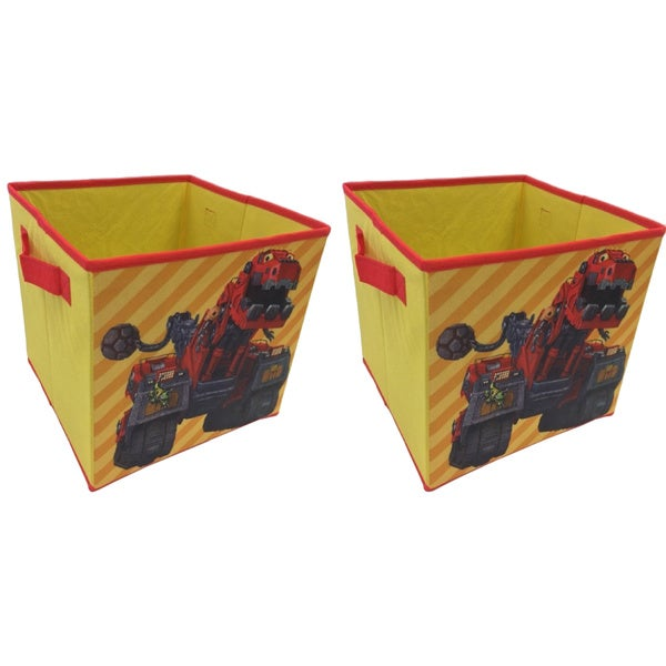 Dinotrux Yellow Collapsible Storage Cubes