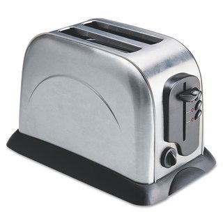 Coffee Pro 2-Slice Toaster with Adjustable Slot Width Stainless Steel
