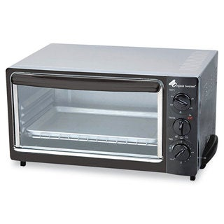 Coffee Pro Multi-Function Toaster Oven with Multi-Use Pan 15 x 10 x 8 Black/Stainless