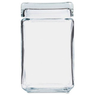 Office Settings Stackable Glass Storage Jars 1 1/2 qt Glass