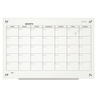 Quartet Infinity Magnetic Glass Calendar Board 24 x 18