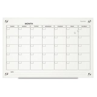 Quartet Infinity Magnetic Glass Calendar Board 36 x 24