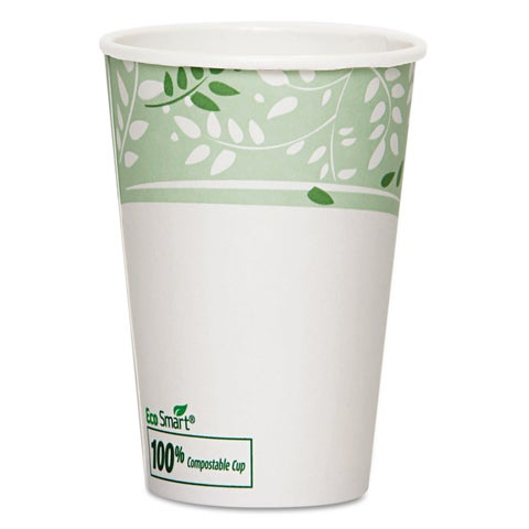 Dixie EcoSmart Hot Cups Paper with PLA Lining Viridian 16oz 1000/Carton