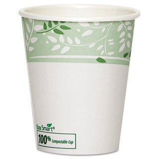 Dixie PLA Hot Cups Paper with PLA Lining Viridian 10-ounce Squat 1000/Carton