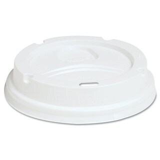 Dixie Dome Drink-Thru Lids Fits 12-16-ounce Paper Hot Cups White 1000/Carton