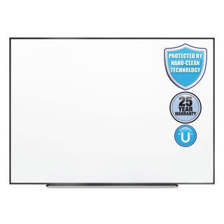 Quartet Fusion Nano-Clean Magnetic Whiteboard 36 x 24 Black Frame