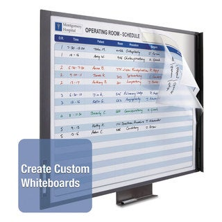 Quartet InView Custom Whiteboard 47 x 35 Graphite Frame