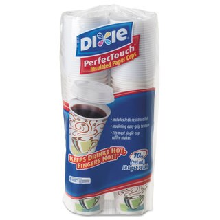 Dixie Combo Bag Paper Hot Cups 10-ounce 50/Pack 6 Packs/Carton