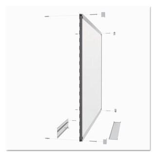 Quartet Prestige 2 Connects Total Erase Whiteboard 36 x 24 Mahogany Color Frame