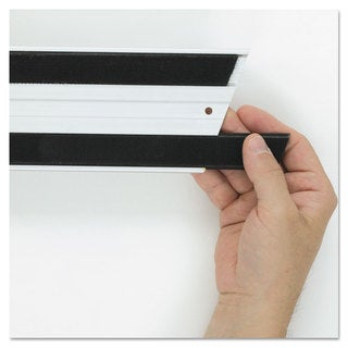 Rubbermaid Commercial Hook & Loop Replacement Strips 1 1/10-inch wide x 18-inch long Black
