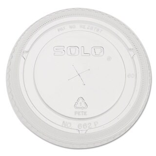 SOLO Cup Company Straw-Slot Cold Cup Lids 9oz-20-ounce Cups Clear 100/Sleeve 10 Sleeves/Carton