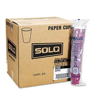 SOLO Cup Company Bistro Design Hot Drink Cups Paper 10oz 1000/Carton