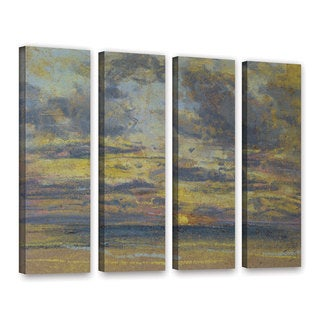 Eugene Louis Boudin's ' Study of the Sky with Setting Sun, c.1862-70' 4 Piece Gallery Wrapped Canvas Set