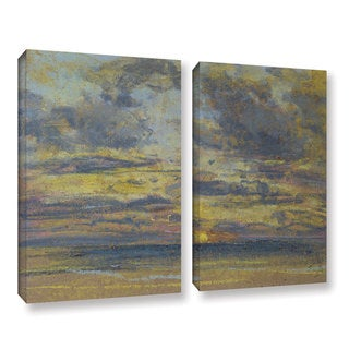 Eugene Louis Boudin's ' Study of the Sky with Setting Sun, c.1862-70' 2 Piece Gallery Wrapped Canvas Set