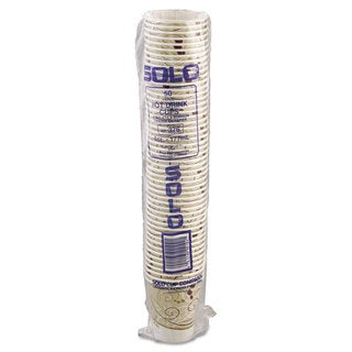 SOLO Cup Company Paper Hot Cups in Symphony Design Polylined 6oz Beige/White 1000/Carton