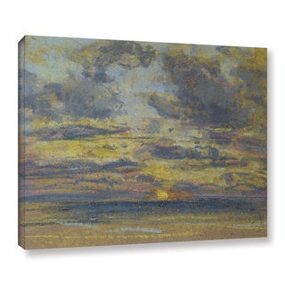 Eugene Louis Boudin's ' Study of the Sky with Setting Sun, c.1862-70' Gallery Wrapped Canvas