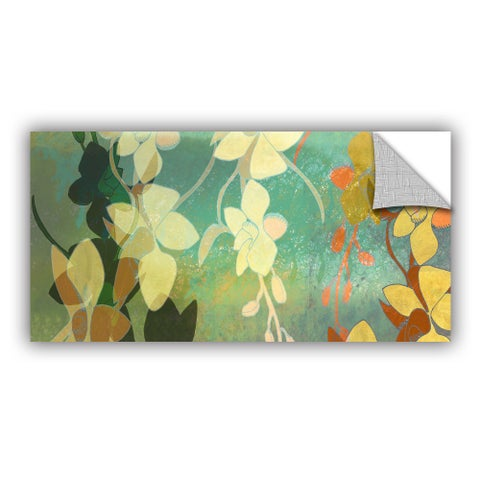 ArtAppealz Jan Weiss's 'Shadow Florals ' Removable Wall Art Mural