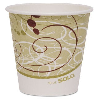 SOLO Cup Company Polycoated Hot Paper Cups 10 oz Symphony Design 1000/Carton