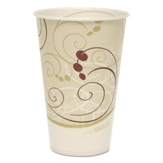 SOLO Cup Company Symphony Treated-Paper Cold Cups 12-ounce White/Beige/Red 100/Bag 20 Bags/Carton