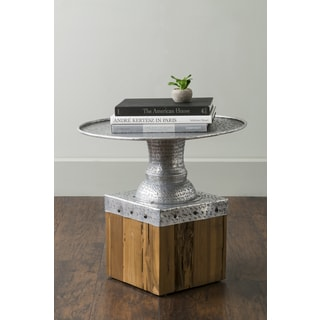 East At Main's Hately Silver Round Aluminum Accent Table