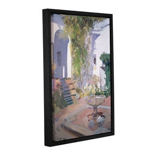 Joaquin Sorolla y Bastida's 'Garden Grotto, Alcazar de Seville, 1910' Gallery Wrapped Floater-framed Canvas