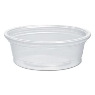 SOLO Cup Company Plastic Souffle Portion Cups 1/2 oz. Translucent 2500/Carton