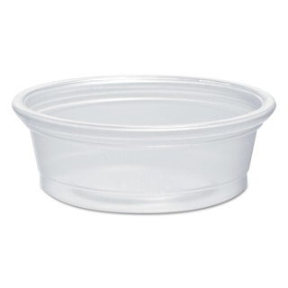 Dart Plastic Souffle Portion 1/2 oz. Translucent Cups (Case of 2500)
