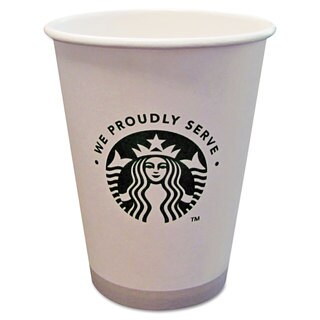 Starbucks Hot Cups 12oz White with Green Logo 1000/Carton