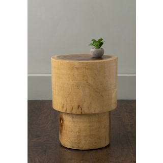 East At Main's Rome Brown Round Teakwood Accent Table
