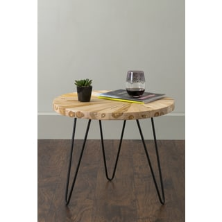 East At Main's Bexley Brown Round Teakwood Accent Table