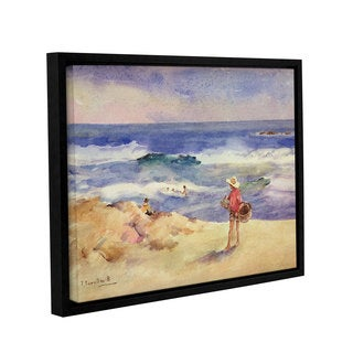 Joaquin Sorolla y Bastida's 'Boy On The Sand' Gallery Wrapped Floater-framed Canvas