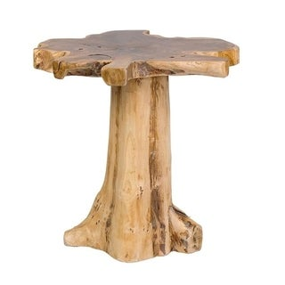 East At Mainu0027s Grafton Brown Specialty Contemporary Rustic Teakwood Accent  Table