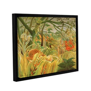Henri J.F. Rousseau's 'Tiger In A Tropical Storm, 1891' Gallery Wrapped Floater-framed Canvas - multi