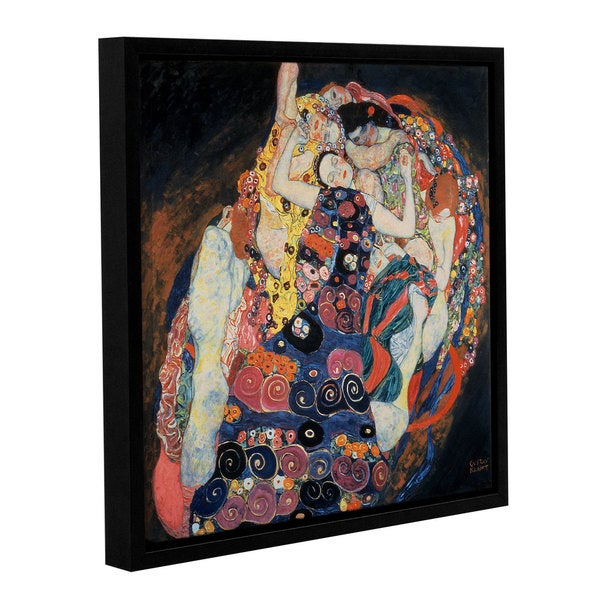 Gustav Bridgeman Klimt's 'The Maiden, 1913' Gallery Wrapped Floater-framed Canvas - Black. Opens flyout.