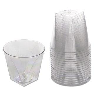 WNA Milan Tumblers 9 -ounce Plastic Clear 16 Tumblers/Bag 15 Bags/Carton