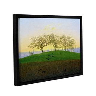 Casper David Friedrich's 'Hills And Ploughed Fields Near Dresden' Gallery Wrapped Floater-framed Canvas