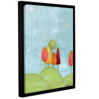 Alli Rogosich's 'The Happy Forest (Left Side)' Gallery Wrapped Floater-framed Canvas