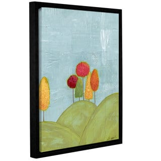 Alli Rogosich's 'The Happy Forest (Right Side)' Gallery Wrapped Floater-framed Canvas