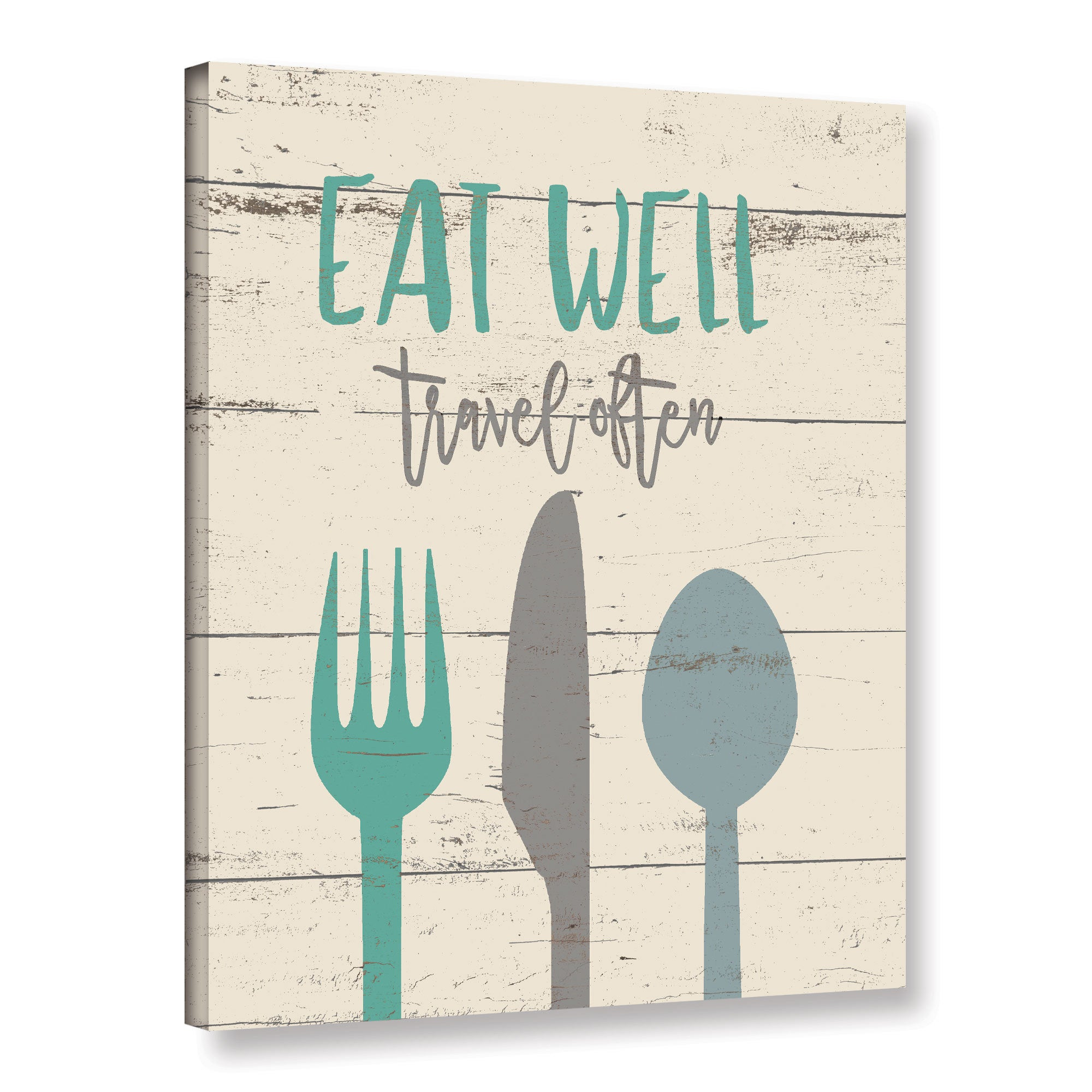ArtWall Jo Moulton's 'Eat Well 2' Gallery Wrapped Canvas ...