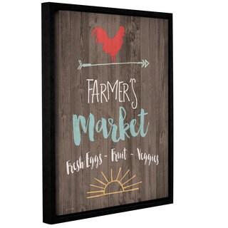 Jo Moulton's 'Farmer's 'Market' Gallery Wrapped Floater-framed Canvas
