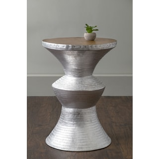East At Main's Jackson Silver Round Transitional Aluminum Accent Table