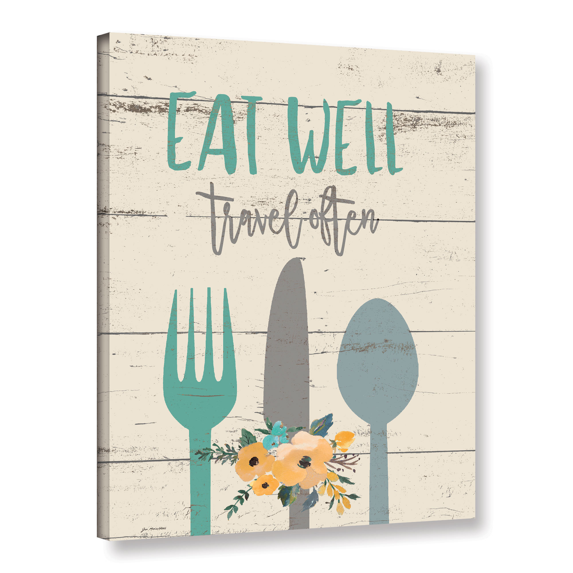 ArtWall Jo Moulton's 'Eat Well' Gallery Wrapped Canvas (2...
