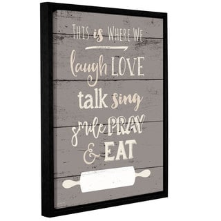 Jo Moulton's 'This is Where We Eat' Gallery Wrapped Floater-framed Canvas