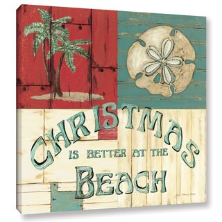 Jo Moulton's 'Xmas at the Beach' Gallery Wrapped Canvas - Multi